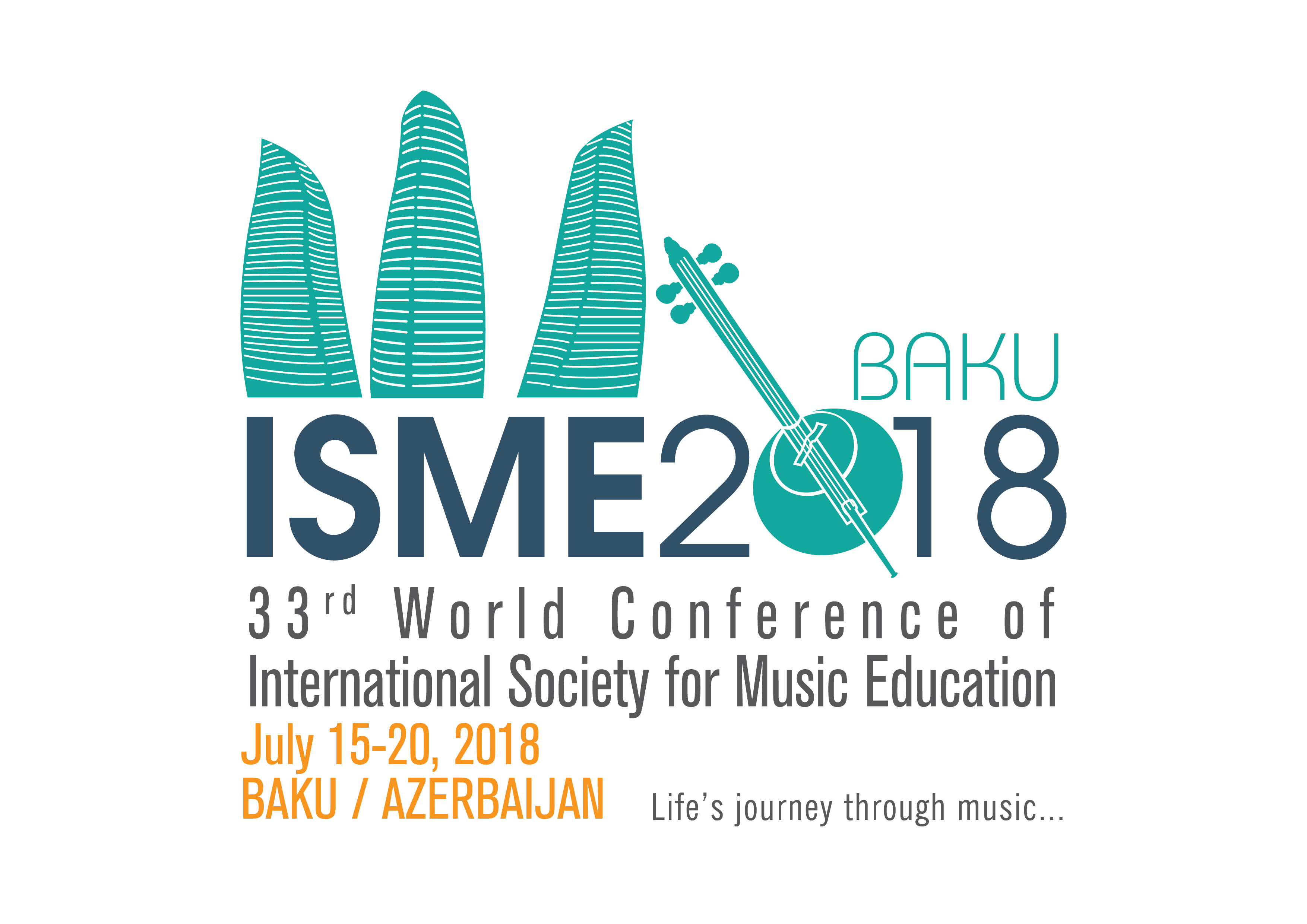 Logo for the 33rd ISME World Conference in Baku, Azerbaijan