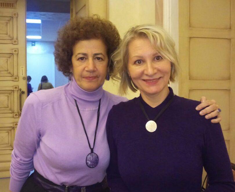 Alla Toropova and colleague from RussME