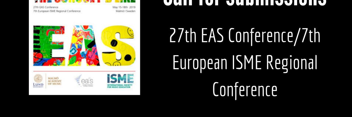 EAS logo and call for submissions invitation