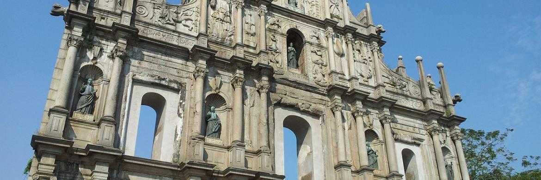 Macau famous church facade