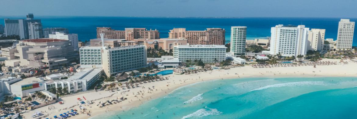 Beaches and hotels in Cancun Mexico