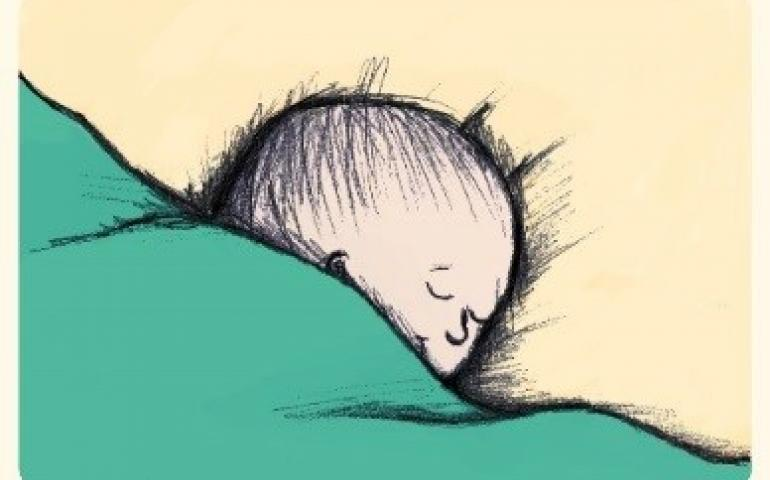 Illustration of baby asleep