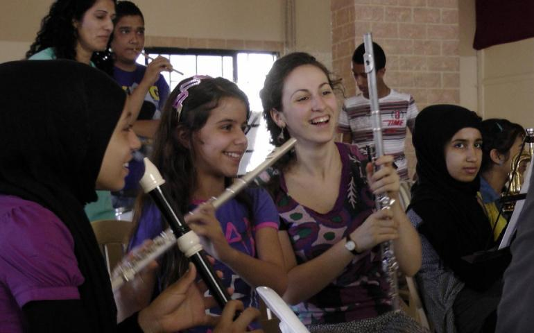 IMC community music activities with Palestinian refugees in Lebanon