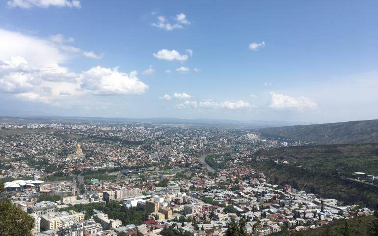 View of Tbilisi from above