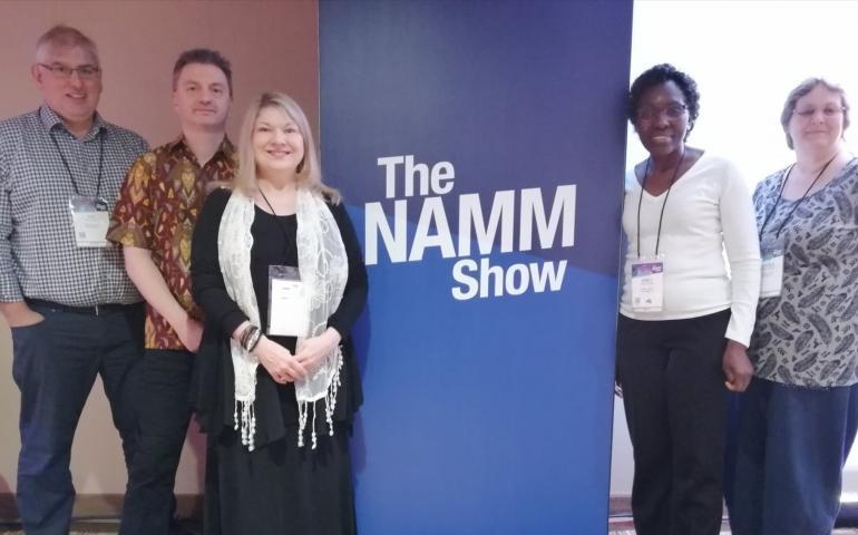 The ISME team at NAMM