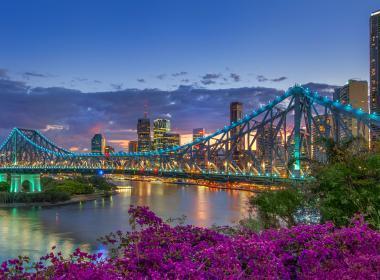 Storey Bridge and Brisbane River at night