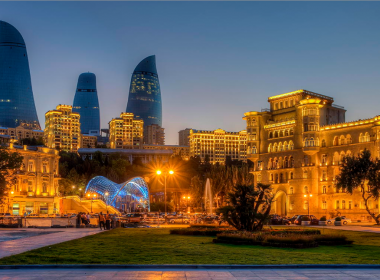 Photo of skyline in Baku