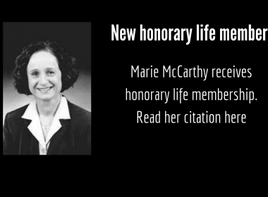 Marie McCarthy black and white photo