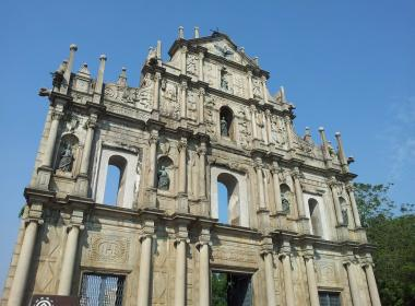 Macau famous church facade