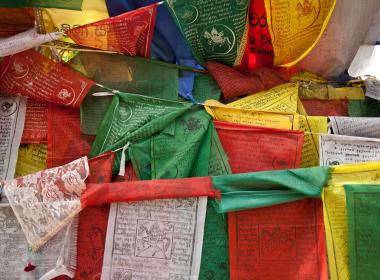 Nepali prayer flags