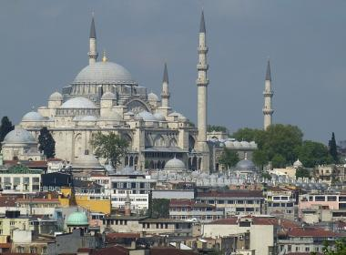 View of Istanbul and Hagia Sophia