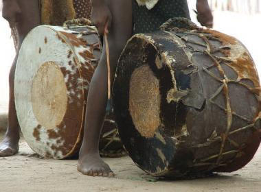 South African drums and little kids feet